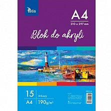 Blok Do Akryli A4 190g 15ark Tetis