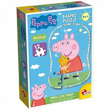 Puzzle Peppa Pig Shaped Fair 12 El