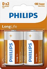 Baterie R20 Longlife 2szt Philips
