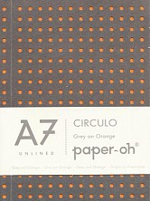 Not./paperblanks/a7 Circulo Grey On Orag